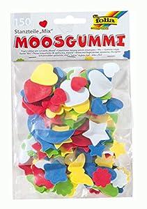 Folia 231509  - Piezas de goma espuma con diferentes formas y colores (150 piezas)Importado de Alemania