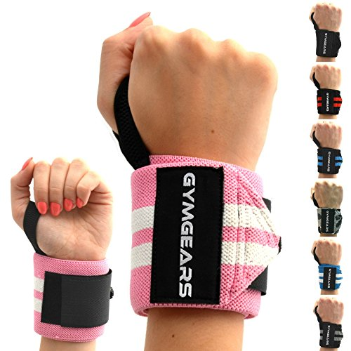 Handgelenk Bandagen [2er Set] Wrist Wraps 45cm - Profi Handgelenkbandage für Kraftsport, Bodybuilding, Powerlifting, CrossFit & Fitness - Für Frauen & Männer geeignet - 2 Jahre Gewährleistung