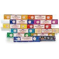 Satya Sai Baba - Nag Champa-Räucherstäbchen-Set, gemischt, Geschenk-Set B mit 12x 15g Räucherstäbchen, enthält... preisvergleich bei billige-tabletten.eu