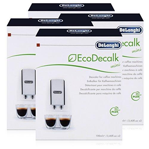 Delonghi 5513292821 nokalk - decalcificante ecodecalk per macchine del caffè automatiche, 100 ml, confezione da 8 pezzi