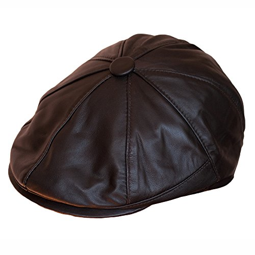 Dazoriginal Ballonmütze Baskenmütze Flat Cap Leder Schirmmütze Schiebermütze Hut