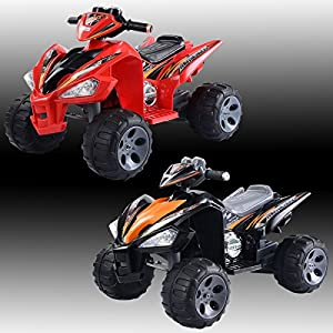 Costway Kids Ride On Quad Bike 12V Electric Battery Toys Car Children Boys Girls Gift Red Black by Costway