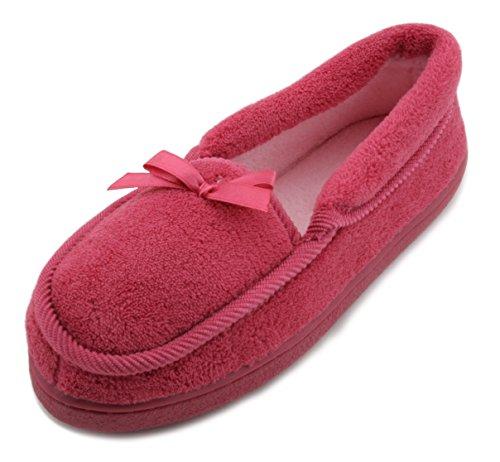 slumberzzz-ladies-soft-washable-plain-fleece-moccasin-slipper-pink-5-uk