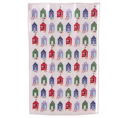 Fun Seaside Design Cotton Beach Hut Tea Towel Match Your Kitchen With Your Kitchen Wear With Our