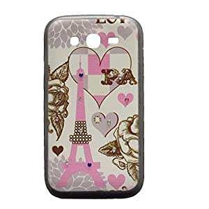 Slim Fit Eiffel Tower Crystal Hard Back Case Cover For Samsung Galaxy Grand Duos 9082