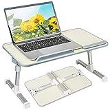Like-very Lapdesk - Tavolino pieghevole regolabile in altezza e angolazione, per divano, letto, terrazza, balcone e giardino