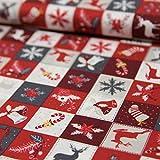 Stoffe Werning Baumwollstoff Weihnachten Patchwork Glocken