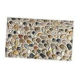 Sharplace 3D Granitbrocken Holzoptik Boden Aufklber Wandaufklelber für Balkon Wohnzimmer - # 2