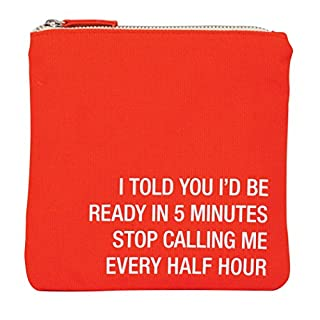 About Face Stop Calling Me Every Half Hour Cosmetic Bag Make-Up Pouch, 18 cm, Multicolour