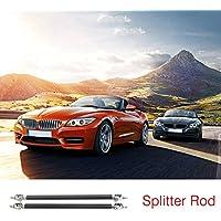 2pcs universal coche delantero trasero parachoques Lip Splitter varillas de soporte ajustable (Color negro) (Tamaño: 10 cm)