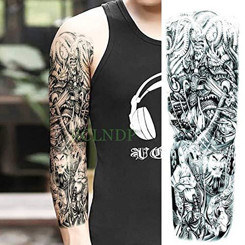 emporäre Tattoo Aufkleber Drachen Chinesischen Stil Vollarm Gefälschte Tato Flash Tartu Große Ärmel Tartto Für Männer Und Frauen (2 Packungen) Army Green ()