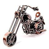 Ubagoo Motorradmodell Retro Jahrgang Motorräder Modell Kreative Handmade Büro Hause Dekor Spielzeug Tolles Geburtstagsgeschenk Weihnachten Geschenk für Freund Ehemann Vater Kinder und Teenager (bronze)