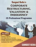 Pooja Law Publishing's Corporate Restructuring, Valuation & Insolvency for CS Professional June 2018 Exam by Sangeet Kedia