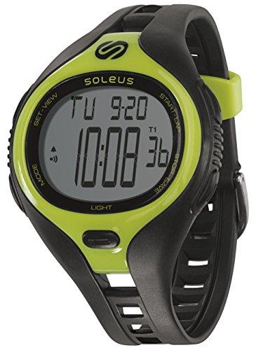 Soleus Dash Herren Fitness Uhr Aktivitätstracker Wasserfest - Schwarz/Limette  Größe L  SODLGBKLM (Soleus-uhren)