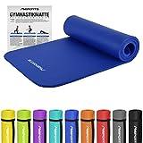 Gymnastikmatte Premium | inkl. Übungsposter | Hautfreundliche - Phthalatfreie Fitnessmatte - Königsblau - 190 x 60 x 1,5 cm-sehr weich-extra dick | Yogamatte