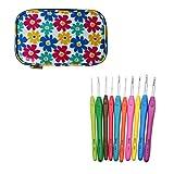 B Baosity 10 PIèces De Crochets 1.5-6.0mm Longue avec Sac de Cas de Modèle de Fleur...
