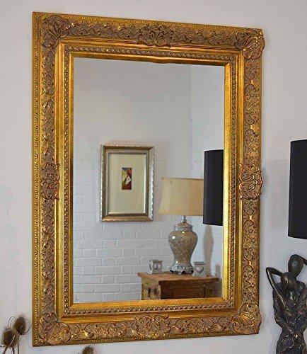 Magnífico espejo de pared dorado estilo Elizabethan muy decorativo completo con cristal de Pilkington de alta calidad – Tamaño extra grande 86 cm x 117 cm con gran marco de 5 pulgadas – ITV Show Supplier – el mejor precio en AMAZON – sólo disponible de Shabby Chic espejos
