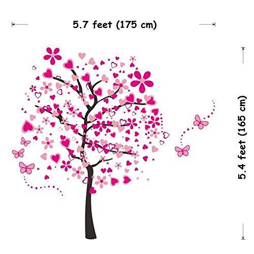 ElecMotive Riesige Herz Baum Schmetterling Abnehmbare Wandaufkleber Wandtattoo Wandsticker Aufkleber DIY für Wohnzimmer Schlafzimmer Kinderzimmer mit Geschenkkarton - 7