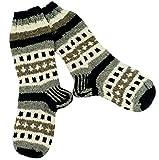 Guru-Shop Handgestrickte Schafwollsocken, Nepal Socken 42-44, Herren/Damen, Mehrfarbig, Wolle, Size:One Size, Socken & Beinstulpen Alternative Bekleidung