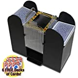 Brybelly Casino 6 Deck Automatic Card Shuffler with 6 Decks of Bicycle Playing Cards by Brybelly