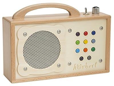 Lecteur MP3 pour enfants : hörbert - en bois. Haut-parleur intégré, limiteur de volume et carte mémoire pour 17h de contenu dans 9 listes de lecture. de WINZKI GmbH & Co. KG