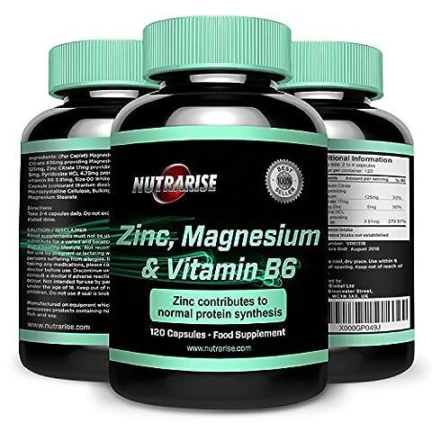 ZMA, Mineral-Vitamin Ergänzung von Bester Qualität und Mit Wirksamen Vorteilen: Unterstützt die Muskelerholung, Steigert Kraft-Größe-Ausdauer, Besserer Schlaf, 120 Kapseln