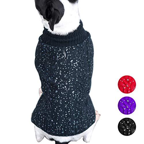 azuza Fashion Hund Pullover Rollkragen Hunde Pullover Knit Fall Winter Warm Hund Pullover Cute, X-Small (Chest 10