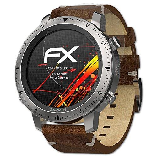 atFoliX Schutzfolie kompatibel mit Garmin Fenix Chronos Bildschirmschutzfolie, HD-Entspiegelung FX Folie (3X)