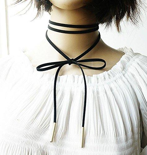 ^ Fablcrew set collana girocollo in velluto pizzo stretch Tattoo choker nappa donne collana nero 10PCS miglior prezzo