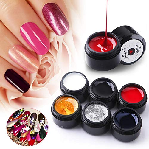 6 Colors Wire Drawing Nail Gel