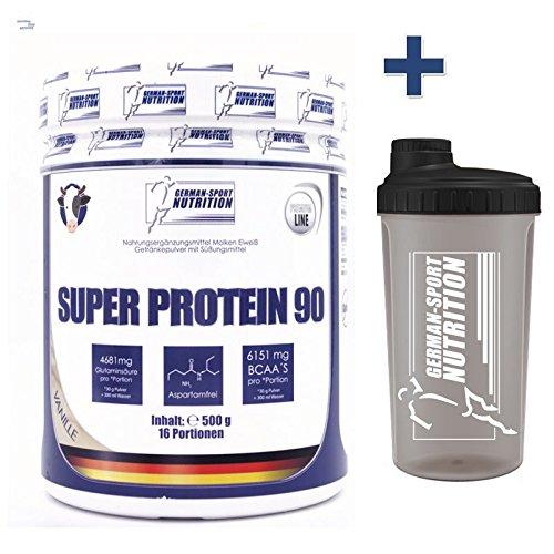 100% Whey Protein 500g - Eiweißshake mit Molkeprotein Isolat (Proteinpulver) Vanille -