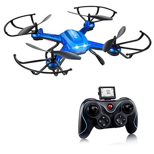 Drohne mit 720P HD Kamera, Potensic RC Quadcopter mit WIFI Kamera live ubertragung und langer flugzeit, Höhe halten und faltbare Arme Funktion und tragbare Drohne, Drone direkt gesteuert mit Handy APP ohne Fernbedienung (F181H)
