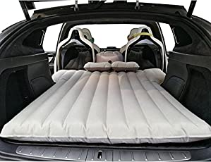 Topfit Auto Travel Camping Air Bed Inflatable Car Mattress, Auto Inflation Air Couch with 2Air Pillow for Tesla Model X 6Seat