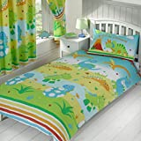 Roar Like a Dinosaur Single Duvet Cover and Pillowcase Set by Price Right Home