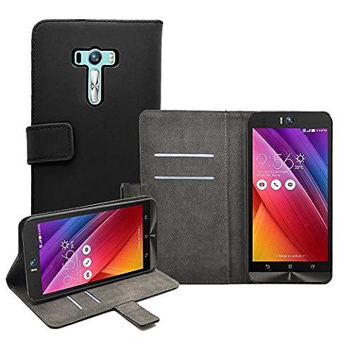 Membrane - Noir Portefeuille Etui Coque pour Asus Zenfone Selfie