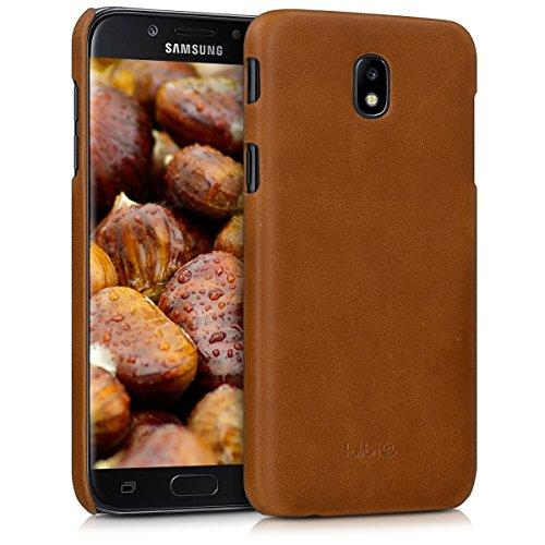 kalibri-Echtleder-Backcover-Hlle-fr-Samsung-Galaxy-J5-2017-DUOS-Leder-Case-Cover-Schutzhlle-in-Cognac
