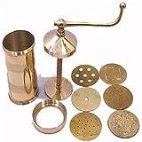 bilAnca™ Sev Sancha Gathiya Murukulu Janthikulu Maker Machine Brass Grater and Slicer (Gold Color)