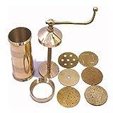 #8: bilAnca™ Sev Sancha Gathiya Murukulu Janthikulu Maker Machine Brass Grater and Slicer (Gold Color)