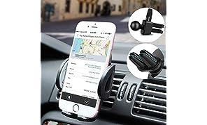 Handyhalterung Auto Smartphone Halterung KFZ Handy Halter für Auto KFZ Handy Halterung für iPhone ,Samsung ,HTC,LG,HuaWei und jedes andere Smartphone oder GPS-Gerät, Mit zwei Klammen Zubehör.