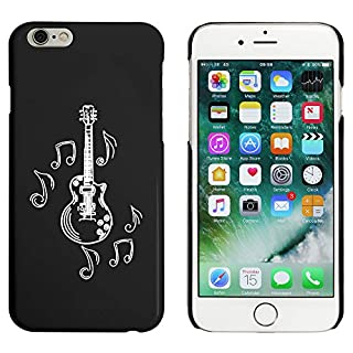 Azeeda Black 'Musical Guitar' Case / Cover for iPhone 6 & 6s (MC00163689)