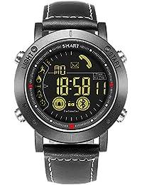 JEISO Herren Smartwatch Fitness Tracker Mit Herzfrequenz Schrittzähler Kompatibel Mit Android & iOS Telefonen Schwarz