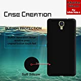 Back Cover For Infinix Note 4, Case Creation (TM) 0.3mm Ultra Clear Thin Soft Silicone TPU Silicone Flexible Black Silicone Back Case Cover For Infinix Note 4 / Infinix Note 4 2017 / Infinix Note 4 5.70-inch / Infinix Note 4 (Vintage Black Print)