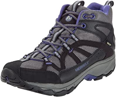 Merrell Calia Mid Gore-Tex, Women's Lace-Up Trekking and Hiking Boots - Black (Black), 7 UK