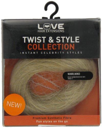 Love Hair Extensions Whirlwind Kunsthaar-Haargummi, Beige Blonde/Beach Blonde