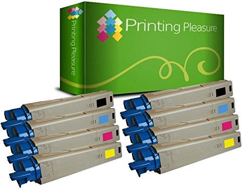 8 Toner kompatibel für Oki C3520 MFP C3530 MFP | 43459324 43459323 43459322 43459321