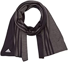 adidas ESS 3S Scarf - Bufanda para hombre, color negro / gris / blanco, talla OSFM
