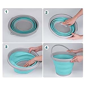 Kurtzy secchio in silicone richiudibile pieghevole 10 for Attrezzi cucina in silicone