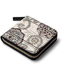 DailyObjects Cocoa Brown And Cream Floral Doodles Women's Wallet