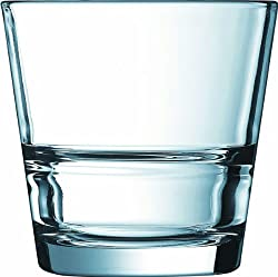 ARCOROC TEMPERED STACK UP H/B TUMBLER 210 ML SET OF 6 GLASS