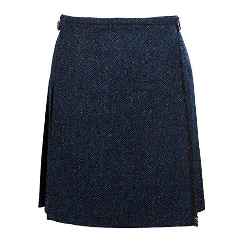 Harris Tweed Damen Rock Gr. 38, blau